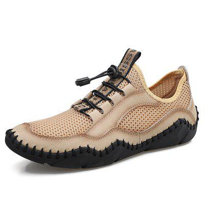 New Mens Casual Shoes Fashion Comfortable Mens Shoes Breathable Mesh Men Sneakers Handmade Outdoor Flat Shoes Big Size 38-48