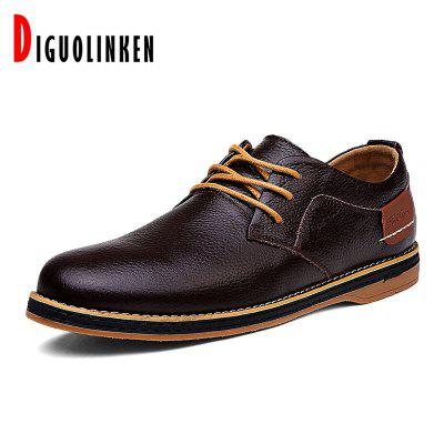 High Quality Mens Casual Shoes Leather Genuine Men Business Dress Luxury Oxford Driving Flats Loafers Big Size
