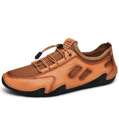 2021 New Mens Casual Shoes Fashion Comfortable High Quality Mesh Men Driving Handmade Flat Size 38-46