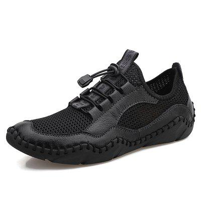 New Mens Casual Shoes Fashion Comfortable Breathable Mesh Men Sneakers Handmade Outdoor Flat Big Size 38-48