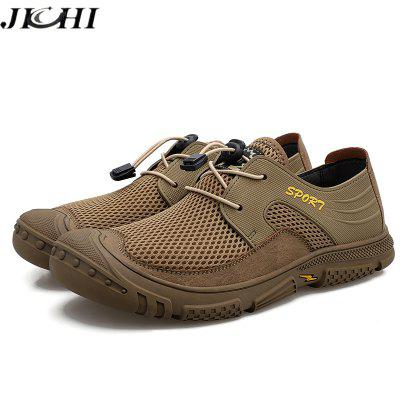 High Quality Men Shoes Mesh Light Sneakers Summer Outdoor Men Casual Shoes Sandals Breathable Non-slip Beach Flat Big Size 2021