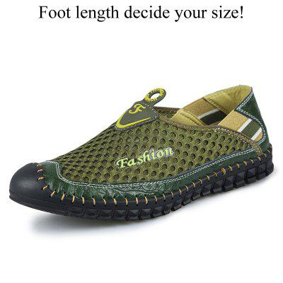 Summer Men Breathable Mesh Shoes Outdoor Slip On Fashion Mens Casual Hot Sale Plus Size 47 48