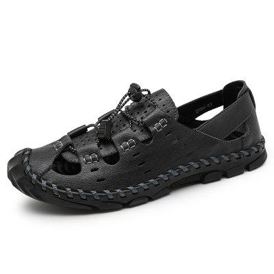 Leather Mens Beach Sandals Outdoor Slippers for Men Summer Water Shoes Male Sport Sneakers Walking Swimming 38-48