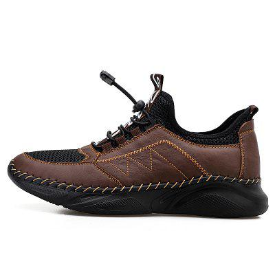 Genuine Leather Mens Casual Shoes Comfy Slip Resistant Men Outdoor Sport Sneakers Male Training Climibing Walking Footwear 38-48