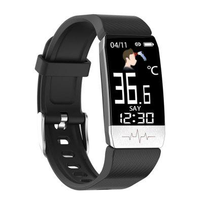 free shipping contec cms vesd multi functional visual stethoscope free earphone ecg pr heart rate spo2 pc software 2 4 lcd new T1S ECG And Temperature Smart Watch ECG + PPG Multi Function Blood Pressure Heart Rate ECG Bracelet