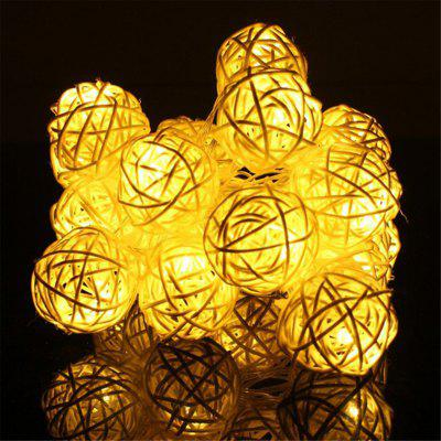 20  Led Rattan Lamp String Girl Heart Room Wedding Decoration Christmas Day