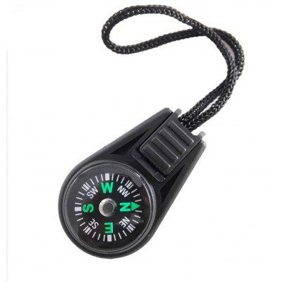 Outdoor Equipment Directional Compass Multifunctional Portable Compass Backpack Zipper Tail Rope Buckle Compass Pendant 20pcs