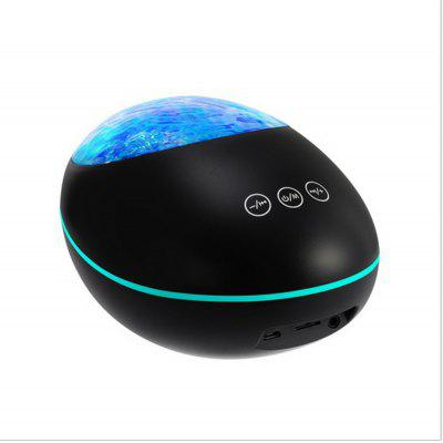 Lucky Stone Bluetooth Remote Control Projection Lamp Dream Music Atmosphere Lamp Speaker Led Romantic Ocean Night Light