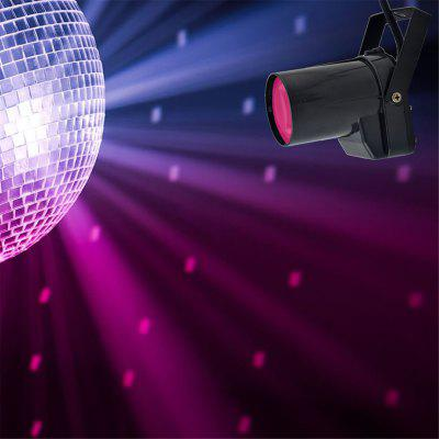 Mini 10W RGBW LED Disco Ball Pinspot Projector Beam Spot Lights DMX Moving Ray Backlight Spotlights DJ Home Party Stage Lighting hollywood 360 classic radio spotlights lucille ball