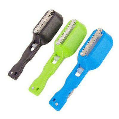 Fish Skin Brush Fast Remove Scale Scraper Planer Tool Scaler Fishing Knife Cleaning Tools Kitchen Cooking Accessorie