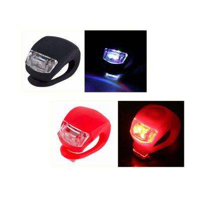 waterproof led cycling front head bicycle bike light headlight headlamp bike front head light flashlight torch Bicycle Light Silicone LED Head Front Rear Bike Light Waterproof Bike Tail Lamp Cycling Light Bicycle Accessories