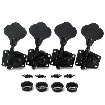 4R Black Bass Guitar Machine Heads Knobs Tuners Tuning Pegs Parts