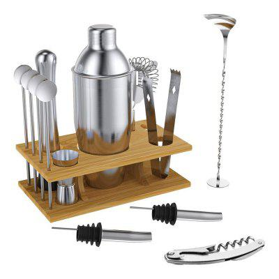 14-Piece Cocktail Shaker Bar Set Stainless Steel Bartender Kit Mixer Drink BrowserKit Bars Tool Accessories Tools