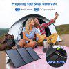 OFFLAND 60W Foldable Solar Panel Charger A Necessary Solar Charging Device For Family Camping And Hiking Doors Rated Voltage 18V Rated Current 3.3A