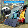 OFFLAND 100W Foldable Solar Panel Charger A Necessary Solar Charging Device For Family Camping And Hiking Doors Rated Voltage 18V Rated Current 5.5A