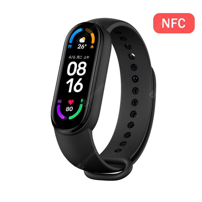 Original Xiaomi Mi Band 6 / 6 NFC Smart Band 1.56 inch AMOLED Screen Blood Oxygen Heart Rate 30 Sport Modes Waterproof for Android iOS