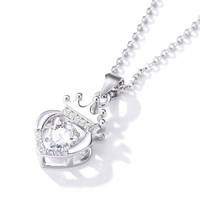 Women Jewelry S925 Pure Silver Inlaid with Zirconium Pendants Necklace for Daily Ceremony