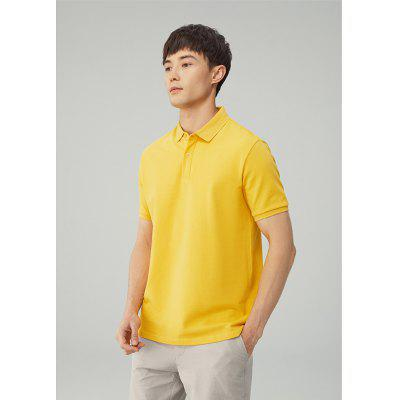 Mens Cotton Polo Shirt Short-Sleeved POLO High Pound Pure Color Versatile