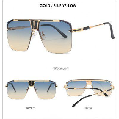 Half-frame Fashion Funglasses  Metal Frame Sunglasses Unisex Glasses