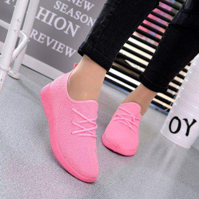 Breathable Fabric Leisure Flat Net Casual Shoes