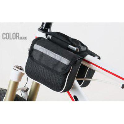 Double Saddle Packs Mountain Bike Men 3 - in - 1 Bag on the Tube Cycling  Package Equipment Accessory