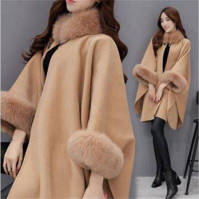 Parka Casual Wool Fur Coats Clothes Cloak Shawl Poncho Jacket