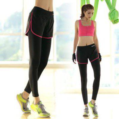 Sport Pants Training Fitness Leggings Fake Two Piece Legging Yoga Trousers