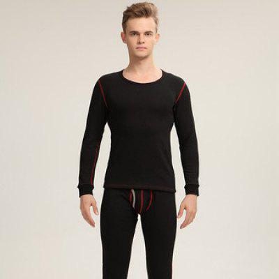 Men'S Thermal Underwear Sets Thick Velvet Warm Clothing Waist Support Breathable Male Underclothes