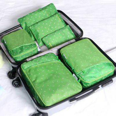 6 Set Packing Cubes With Shoe Bag - Compression Travel Luggage Organizer