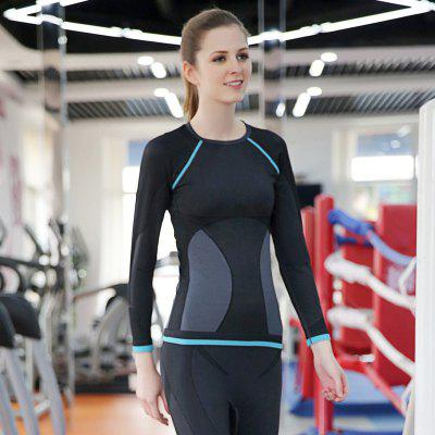 Lässige Dry Quick Compression Lange Ärmel Hals Übung Fitness Base Shirts Tees Tops