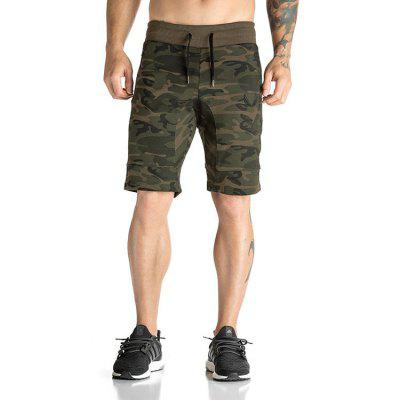 Mens Gyms Trunks Bodybuilding Fitness Jogg Clothing Camouflage Casual Cargo Shorts Silm Workout Clothes Man