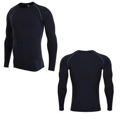 Mens Compression Body Base Layer Jerseys Under Tops Long Sleeve Sport T-Shirt Skins Gear Quick Dry
