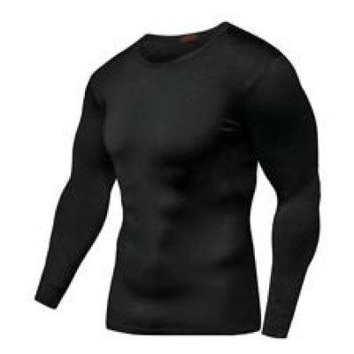 Men Gym Muscle Long Sleeve Bodybuilding Sport Fitness T-Shirt Tops Blouse