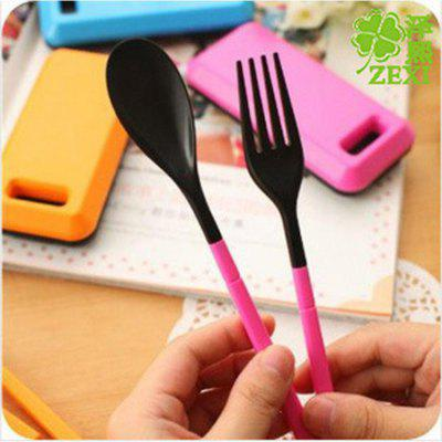 Portable Tableware Sets Creative Dinnerware Tools Travel Folding Combination Spoon Chopsticks Fork