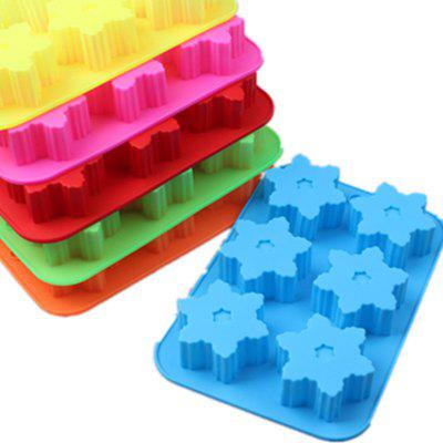 Silicone Snowflake Cake Soap Cookie Chocolate Baking Jelly Mold Decorating