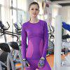 Casual Dry Quick Compression Long Sleeve Neck Exercício Fitness Base Camisas Tees Tops - PRETO