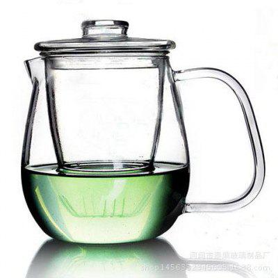 Heat Resistant Glass Transparent Teapot Penguin Shaped Belt Filter Tea Maker