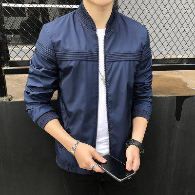 Classic Casual Men's Jackets Slim Long Sleeve Tops Outdoor Jacket Coat