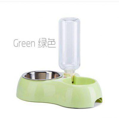 Dog Supply Pot Cat Bowl Teddy Stainless Steel Double Automatic Water Supply Pet Product