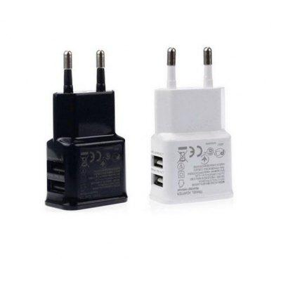 2A Multi-Port USB Charger European Standard Dual USB Travel Charger