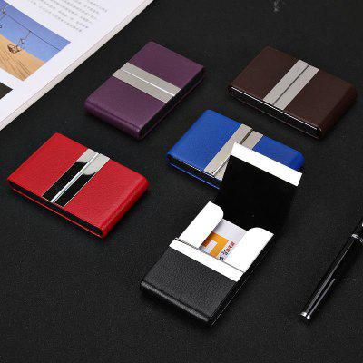 Fashion Personality Custom Card Clip Holder Men's Large Capacity Simple Creative Metal Business Case.