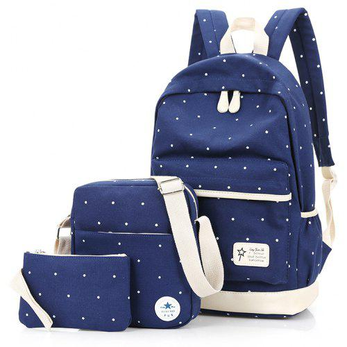 Casual School Bags Travel Backpacks Teenage Girls 3pcs