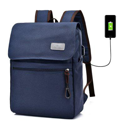Military Multi-Function Notebook Computer Laptop Backpack External USB Charging Bag