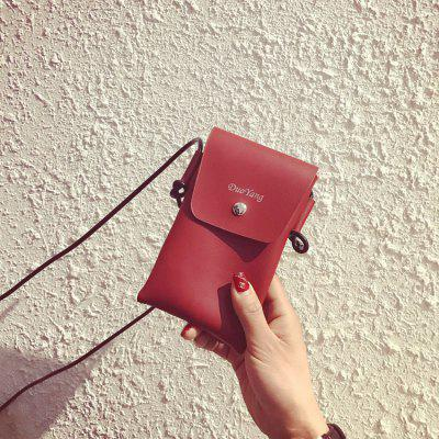 Matte Luxury PU Leather Crossbody Single Shoulder Bag Cellphone Pouch