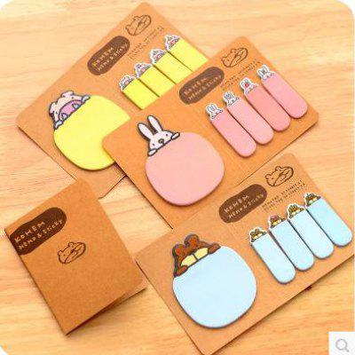 Stationery Cartoon Animal Kraft Paper Note Pad Colorful Writing Book