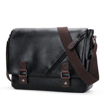 Single Shoulder Version Cross Leather Male Casual Bag