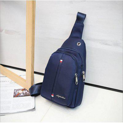 Nylon Satchel Backpack Chest Bag Single Shoulder Solid Color Pack