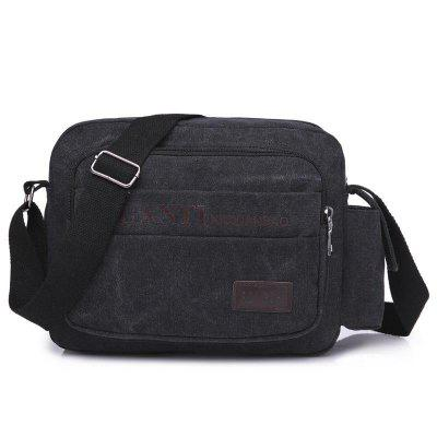 Hommes Crossbady Sacs Canvas Sac à bandoulière simple Satchel Casual Business Satchel résistant à l'usure