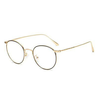 Retro Metal Frame Glasses Flat Mirror for Myopia Glasses