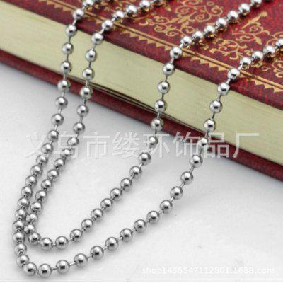 Spot Stainless Steel Bead Chain Bead Chain All Kinds Of Length Necklace Will Never Fade.